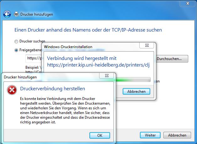 EDV:Drucker/Windows7 - KIP Wiki